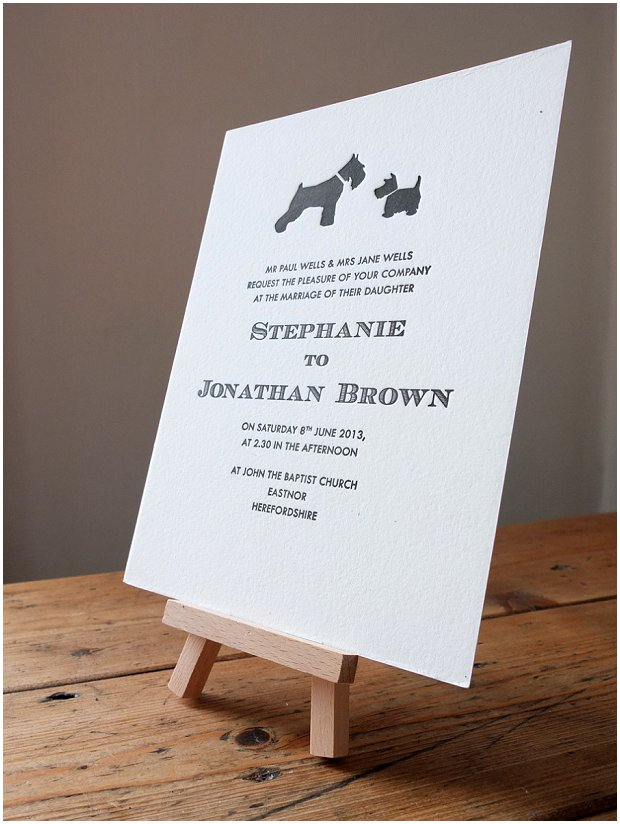 Wolf & Ink Letterpress Wedding Stationery