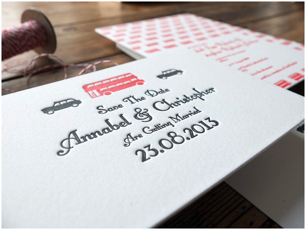 Letterpress Wedding Stationery