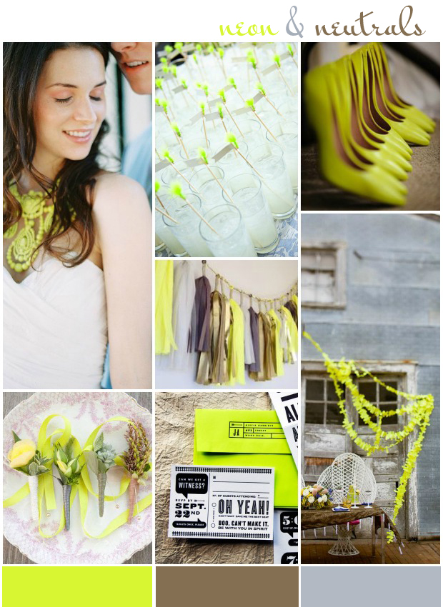 Neon! Wedding Ideas & Inspiration: Colour Ideas