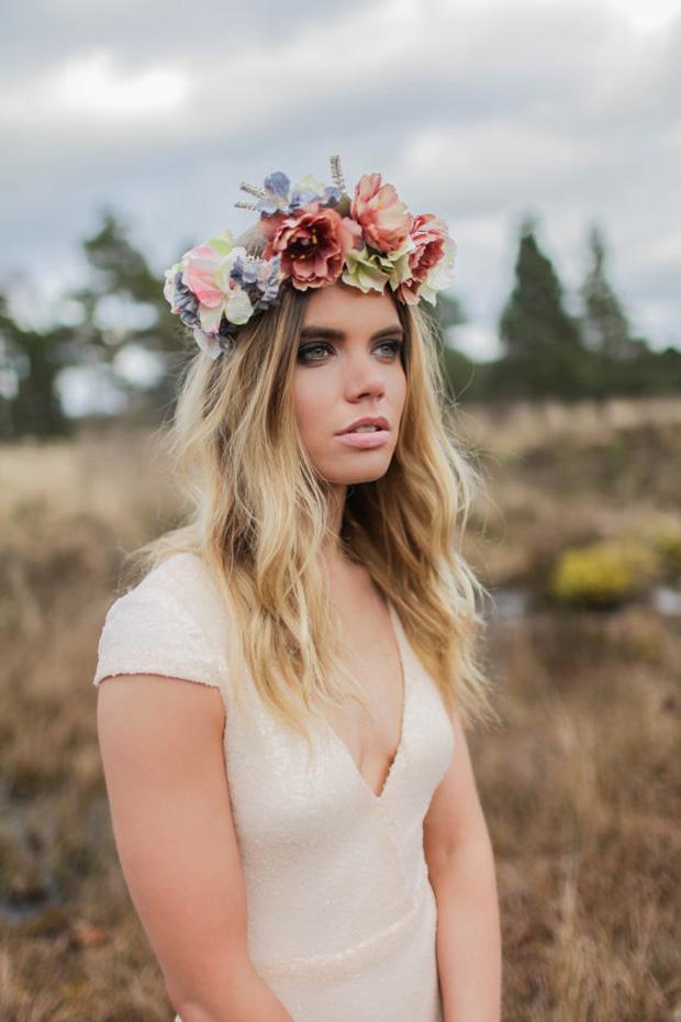 bohemian hippie wedding dress