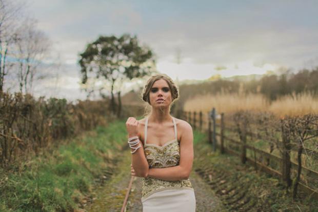 boho luxe wedding gown