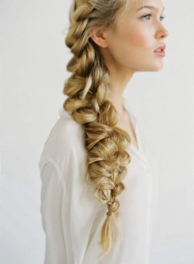 bridal braids - fishtail plait
