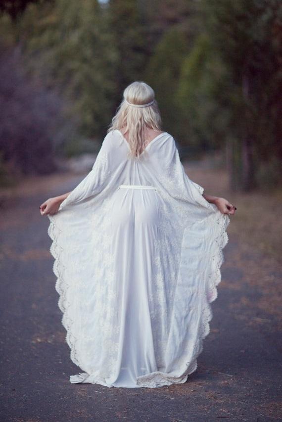 hippie bohemian wedding dress