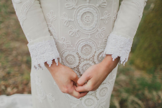 lace circlets boho dress