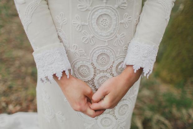 lace circlets boho dress