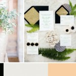 Organic Green, Gold & Black | Wedding Inspiration: Colour Ideas
