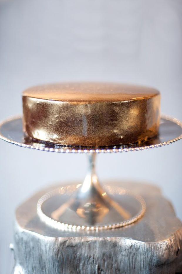 single layer copper cake