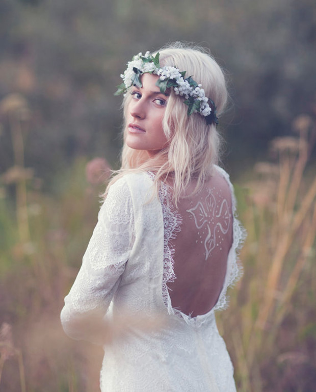 vintage boho bridal gown