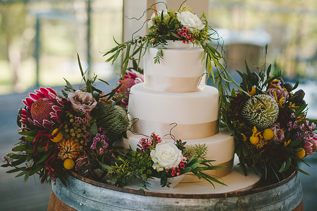 Stunning Australian native flower wedding cake