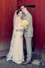 Original Vintage Real Wedding | Sunny Yellow & Cobalt Blue: Lizzy & Chris