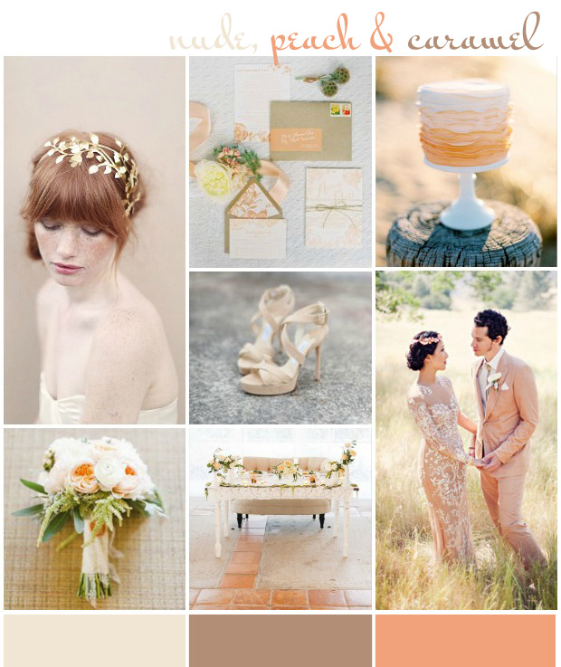 Nude, Peach & Caramel: Wedding Inspiration & Colour Ideas