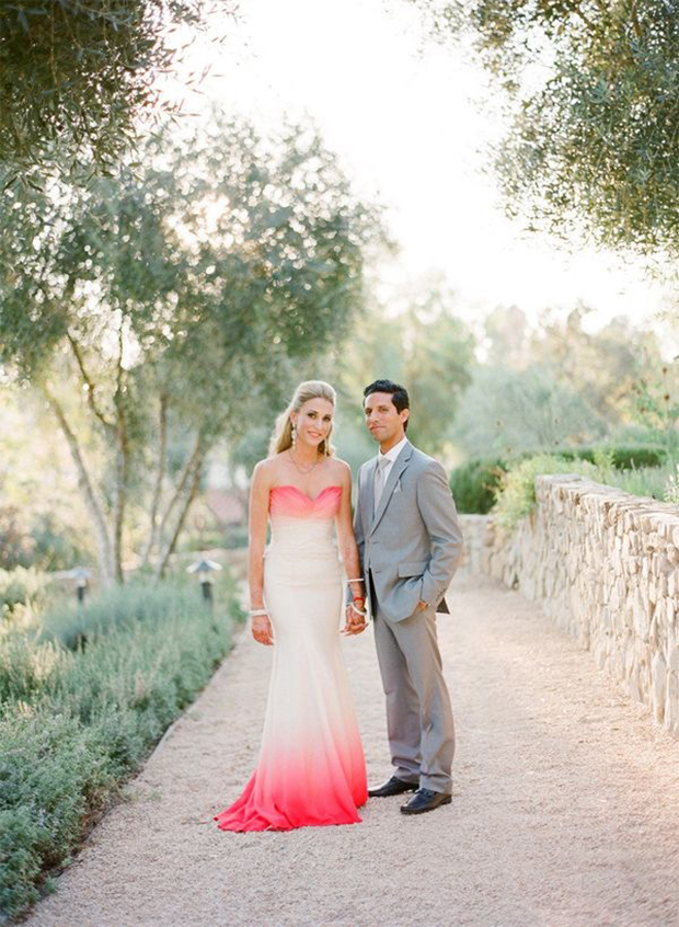 Style Crush: Dip Dye Wedding Dresses + DIY Instructions