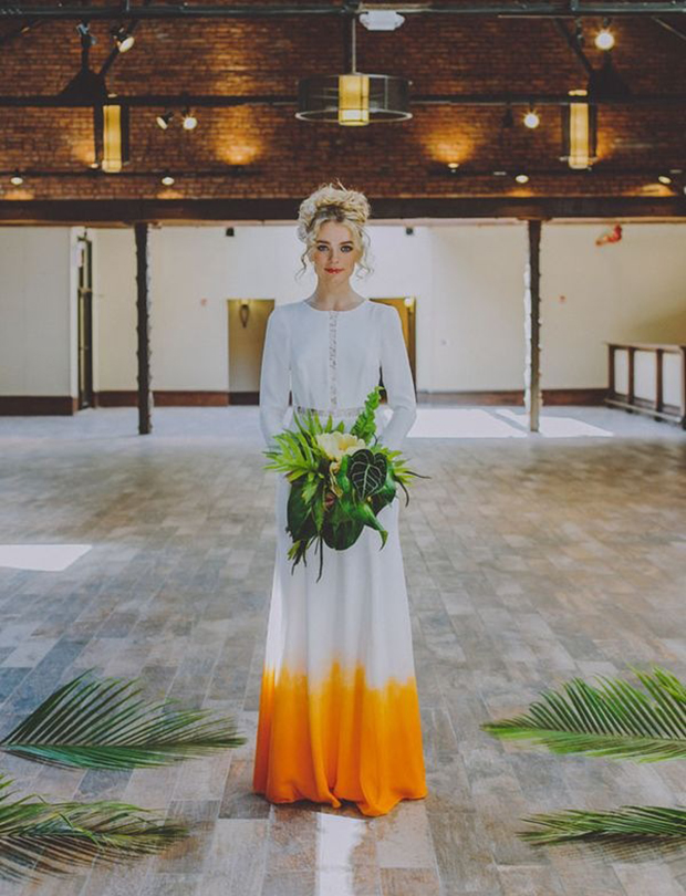 8a39ff315a Style Crush  Dip Dye Wedding Dresses + DIY Instructions