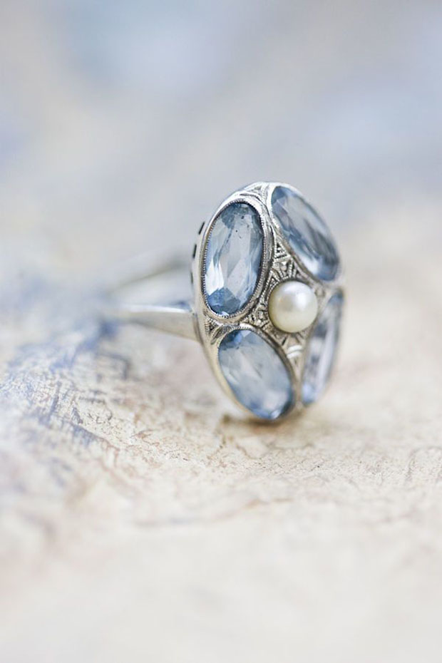 vintage #something-blue ring Photography Corbin Gurkin