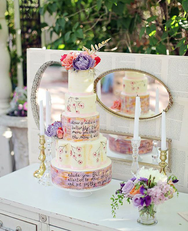 22 Hand Painted Wedding Cakes That Will Inspire You!