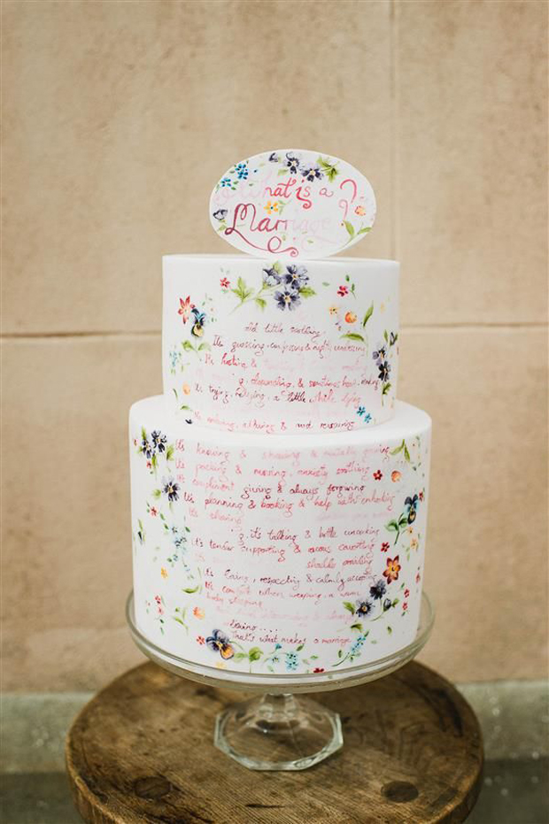 22 hand painted wedding cakes that will inspire you. Black Bedroom Furniture Sets. Home Design Ideas