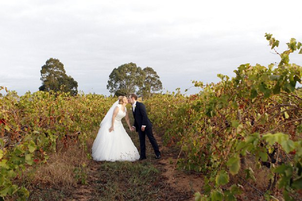 Romantic White Vineyard Wedding: Stacy & Simon {and bump}
