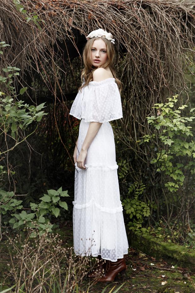 Vintage inspired boho wedding dresses the minna sample sale for Bohemian style wedding dresses for sale