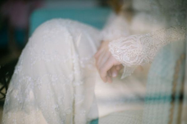 beautiful lace and sparkle wedding dress