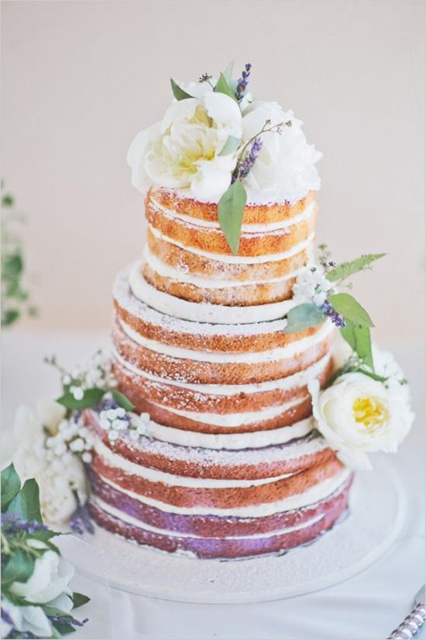 just gorgeous naked wedding cake