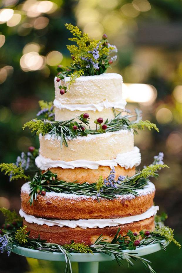 naked herb cake