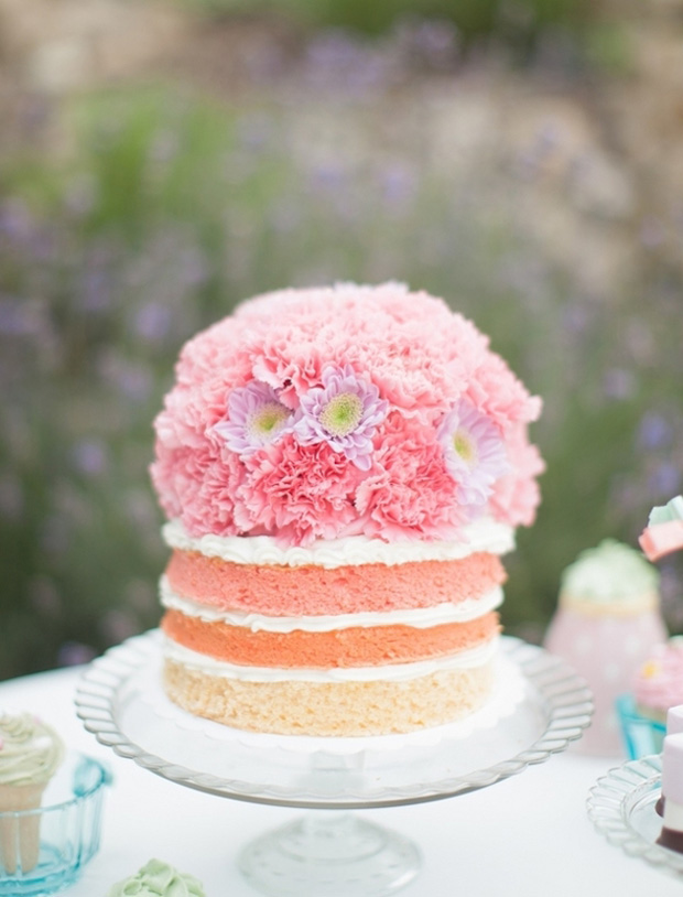naked ombre cake