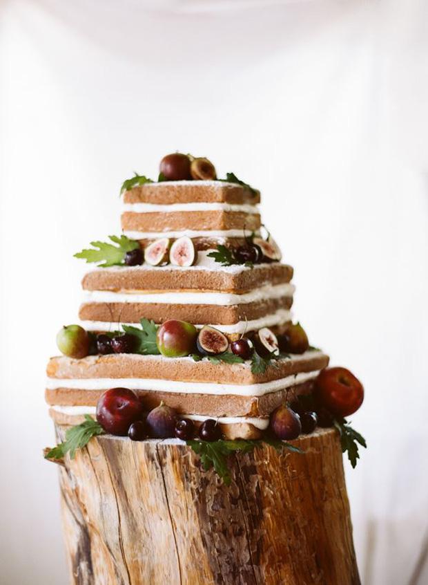 naked square cake