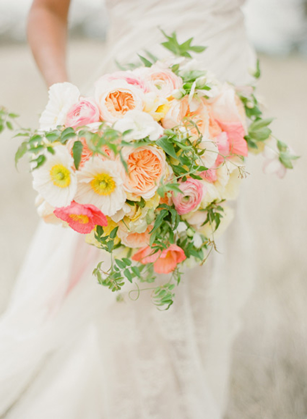 Pale Yellow, Pink & Peach | Wedding Inspiration + Colour Ideas