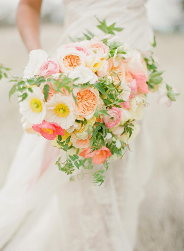 Pale Yellow, Pink & Peach | Wedding Inspiration + Colour Ideas