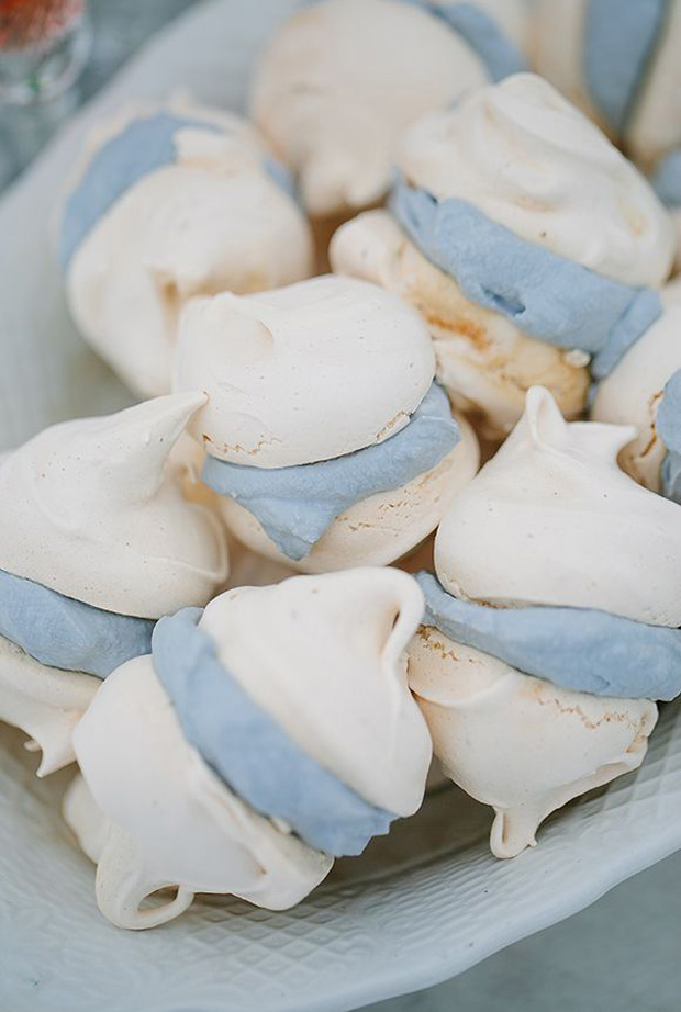 Aquamarine Blue Wedding Macaroon