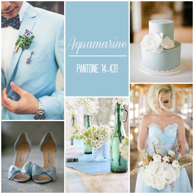Aquamarine Pantone Wedding Ideas & Inspiration