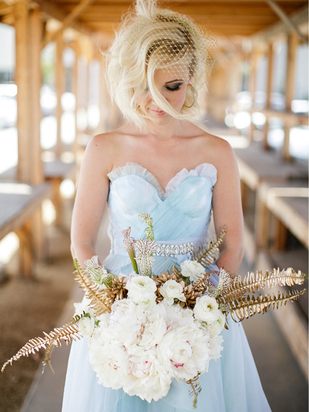 Aquamarine Wedding Dress