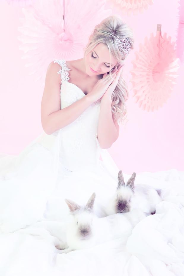 Blushing Bride and Bunnies Inspiration Shoot (30)
