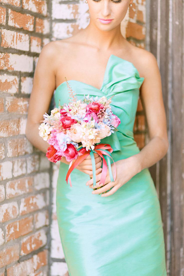 Lucite Green Bridemaid Dress
