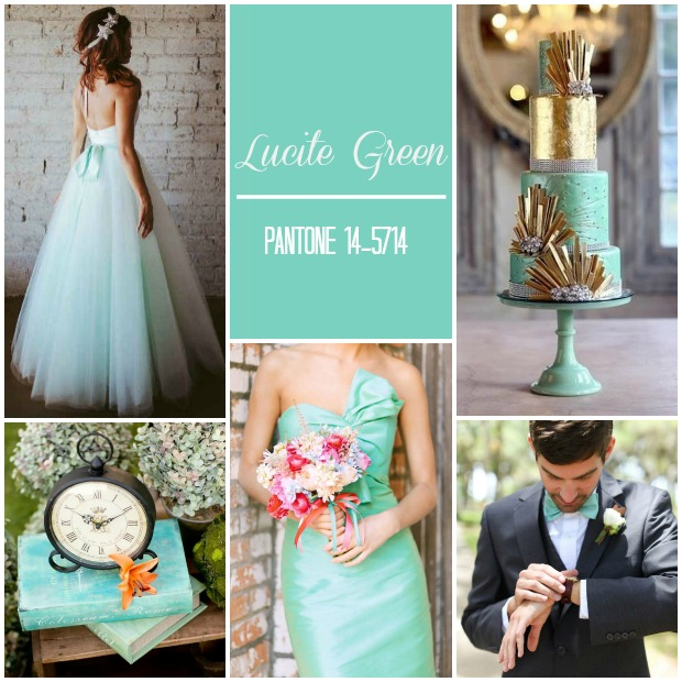 Lucite Green Pantone Wedding Ideas & Inspiration