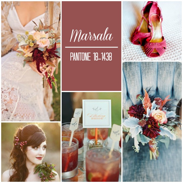 Marsala Pantone Wedding Ideas & Inspiration