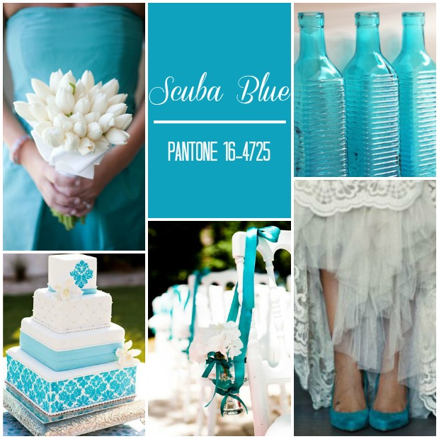 Scuba Blue Pantone Wedding Ideas & Inspiration