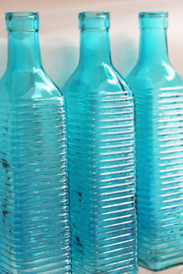 Scuba Blue Wedding Bottles