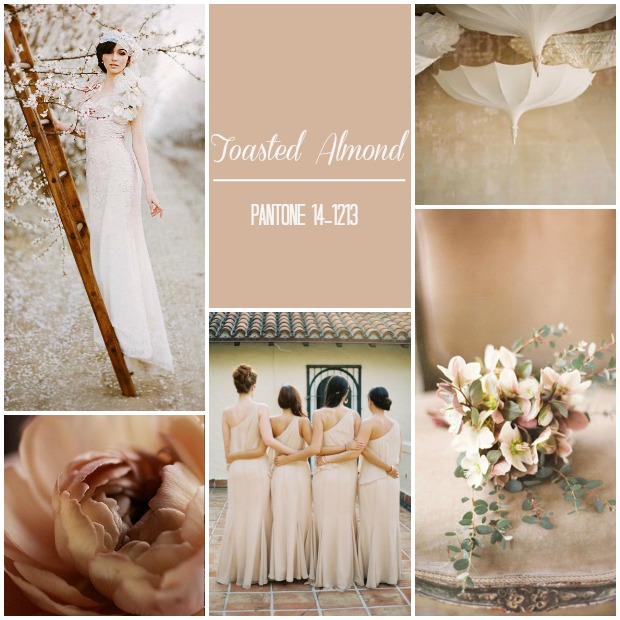 Toasted Almond Pantone Wedding Ideas & Inspiration