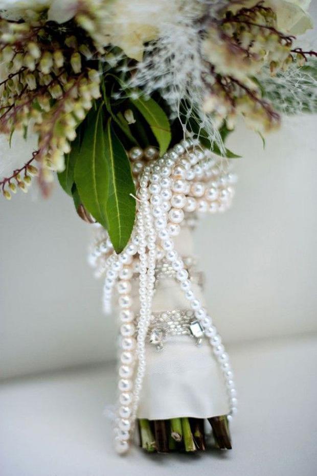 pearl flower bouquet stem