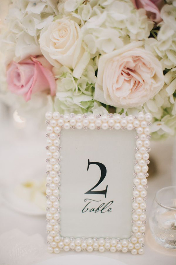 pearl frames for table numbers