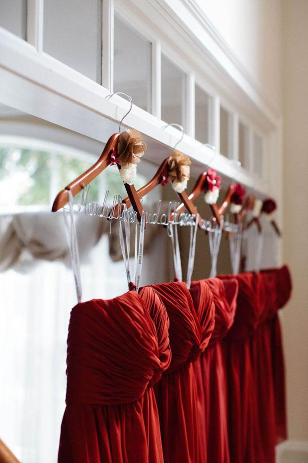rustic autumn bridemaid dresses in russet