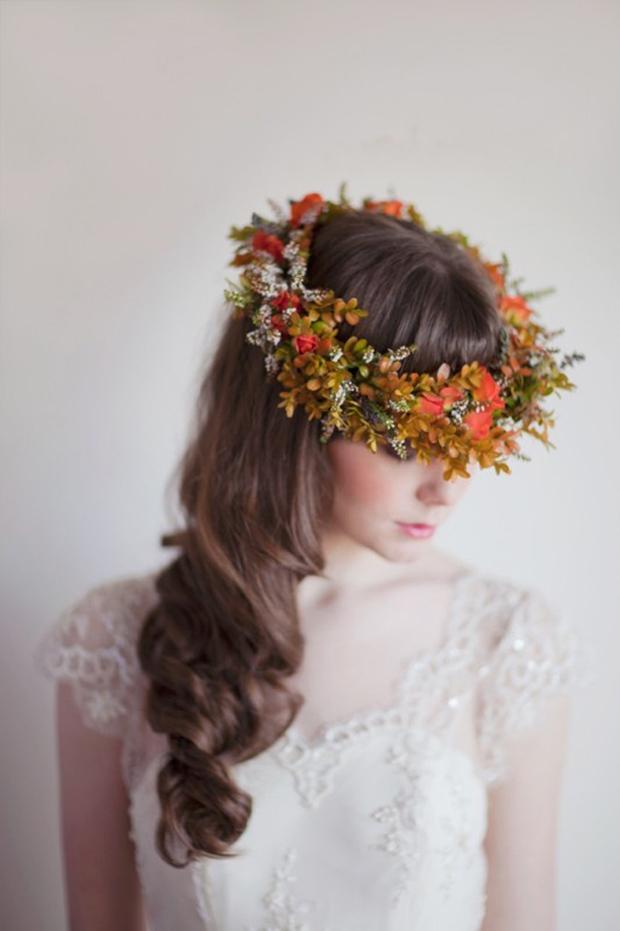 rustic wedding flower crown