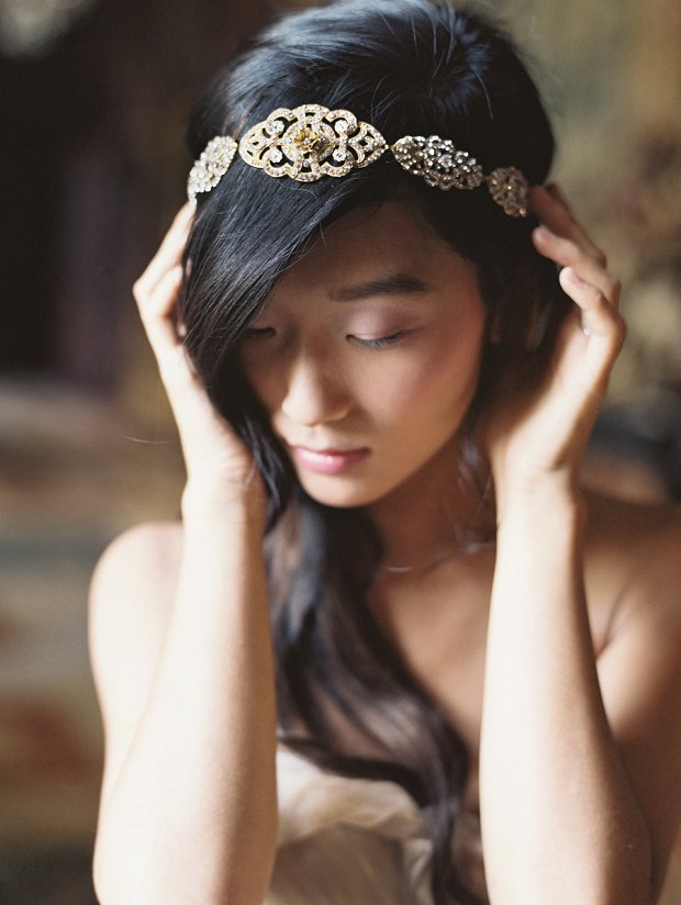 Celeste Headband or Sash_Headpieces, Accessories, & Veils Enchanted Atelier Fall 2015 by Liv Hart