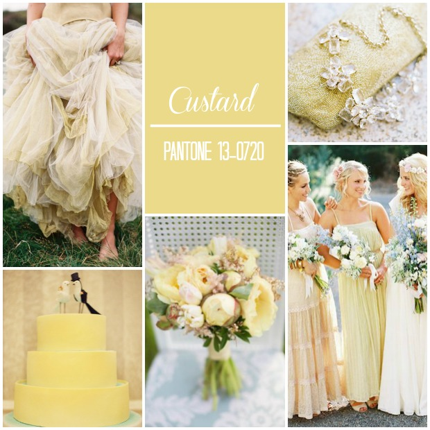 Custard Pantone Colour 2015 Wedding Inspiration
