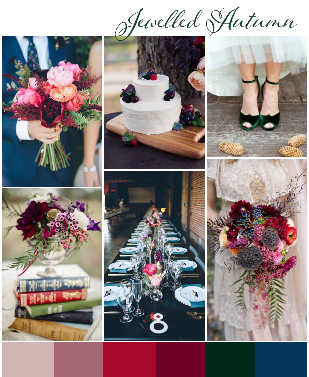 Jewelled Autumn Wedding Inspiration & Ideas