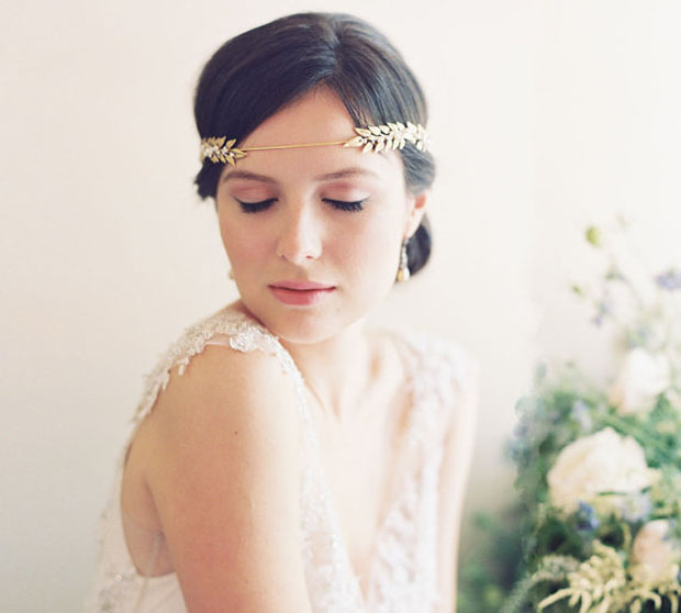 Roman wedding crown, laurel leaf crown, Grecian crown