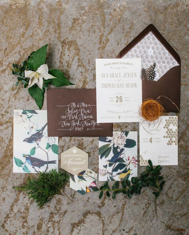 Brown, Bronze & Blue Wedding Inspiration: Colour Ideas