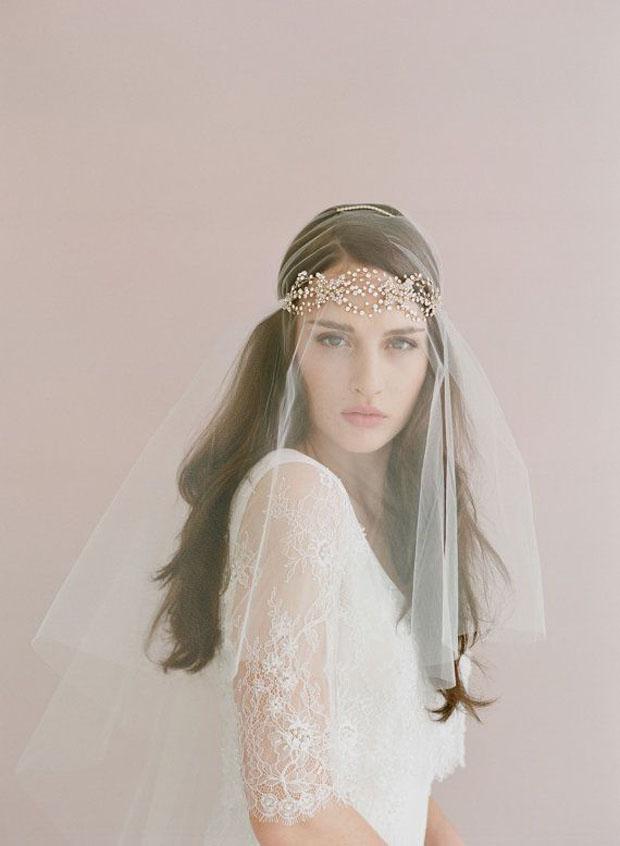 crystal halo head band for weddings