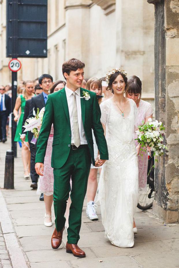 emerald green grooms suit